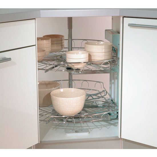 Lazy Susans   Lazy Susan Corner Base U0026 Wall Cabinet Set W/ Baskets By  Vauth Sagel | KitchenSource.com