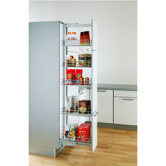 Pantry Cabinet Pull Out System With Ez Close Dampening Upscale Kitchen Hardware