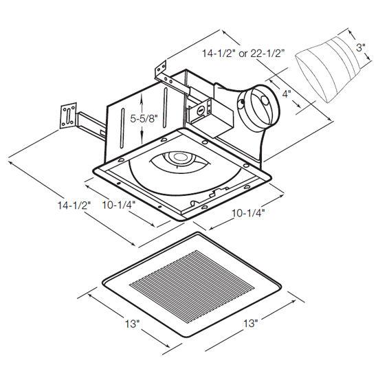 Whisper Fit - EZ Low Profile Bathroom Exhaust Fan By Panasonic