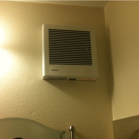 the wall mount bathroom exhaust fan bought