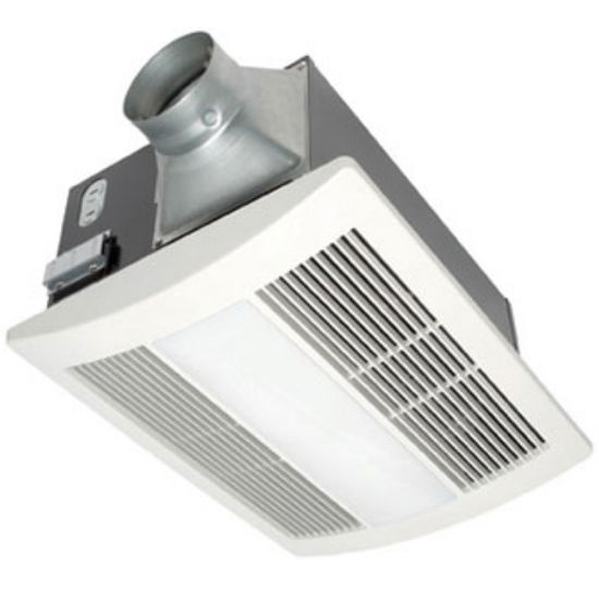 Panasonic 110 CFM Whisper Warm Bathroom Fan with Heater, Light & Nightlight