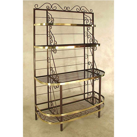 French Bow Style Bakers Rack