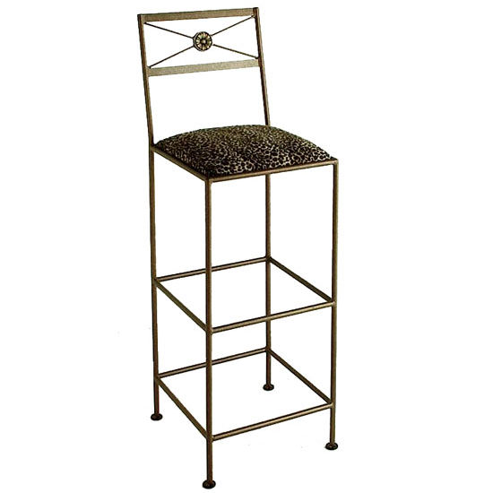 "Grace Collection 36"" Neo Classic Iron Bar Stool in a Variety of Finishes"