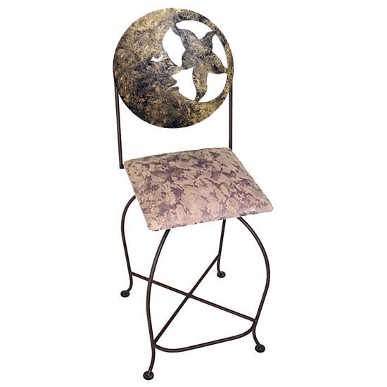 "Grace Collection 24"" Celestial Barstool with Moon Design in a Variety of Finishes"