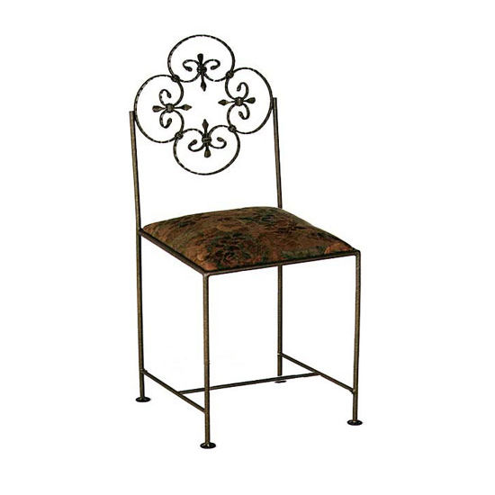 Grace Collection Florentine Bar Stool with Fabric Seat 18""