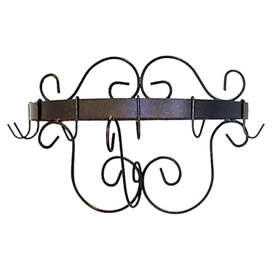 Half Round Pot Rack with Curls GA-HR20CR Series