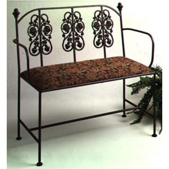 Grace Collection Rose Garden Loveseat in Aged Iron