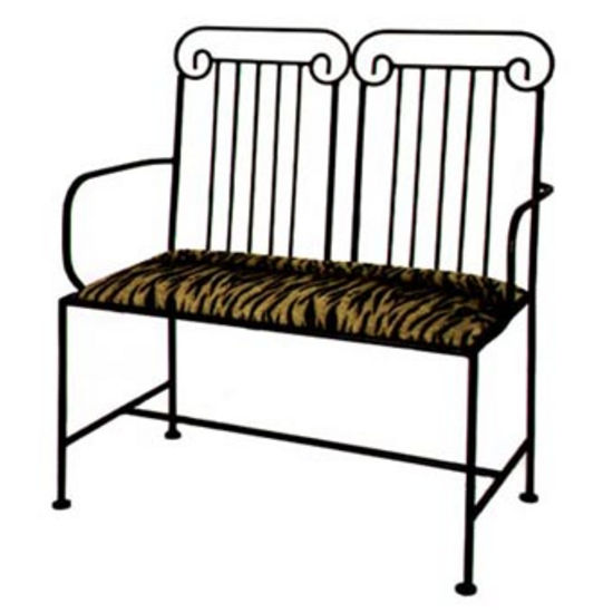 Grace Collection Roman Column Loveseat in Satin Black