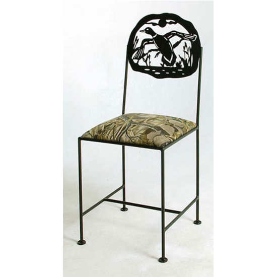 "Grace Collection 24"" Bar Stool with Duck Design in a Variety of Finishes"