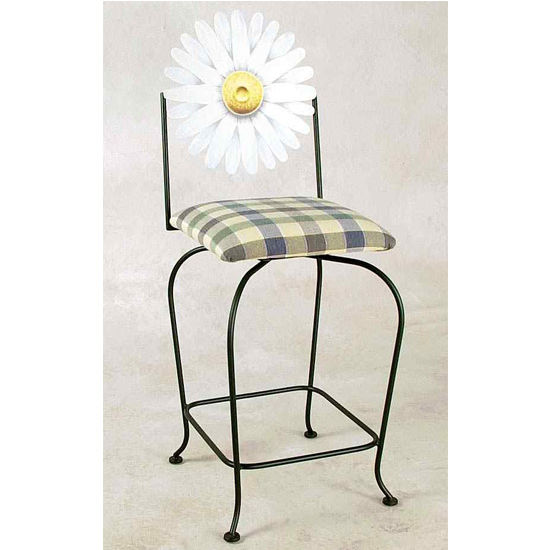 Grace Collection Art Swivel Counter Stool with Arms