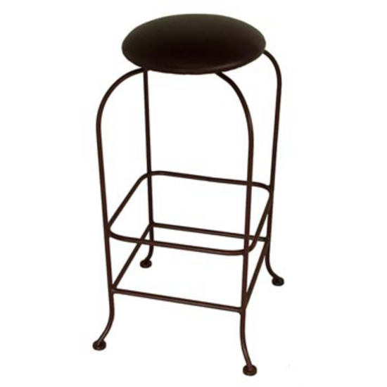 Grace Collection Backless Swivel Bar Stool with Fabric Seat 24""