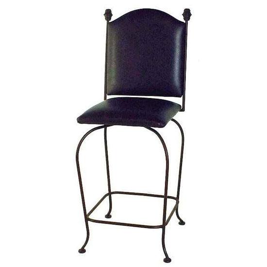 Grace Collection Designer Swivel Stool Plain Upholstered Back