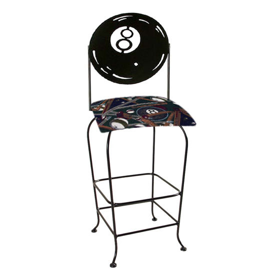 "Grace Collection Eight Ball Silhouette 30"" Seat Height Swivel Bar Stool"