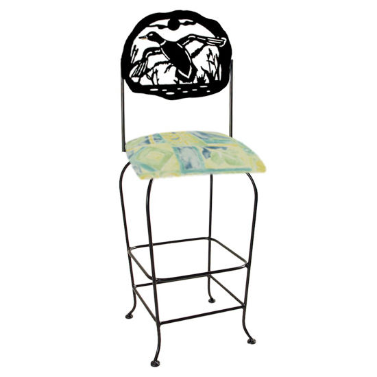 "Grace Collection Lodge Theme Duck Silhouette 30"" Seat Height Swivel Bar Stool"