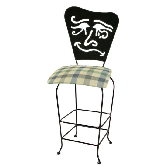 "Grace Collection Mardi Gras Silhouette 30"" Seat Height Swivel Bar Stool"