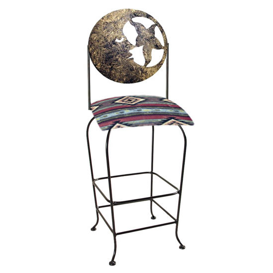 "Grace Collection Celestial Theme Moon Silhouette 30"" Seat Height Swivel Bar Stool"