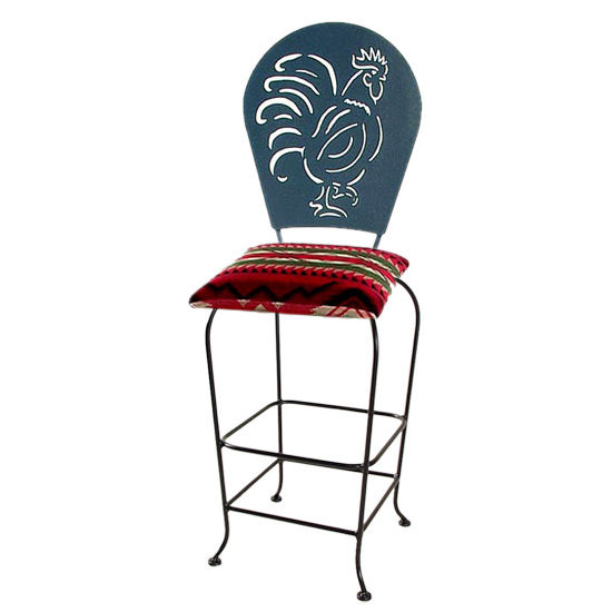 "Grace Collection Rooster Silhouette 30"" Seat Height Swivel Bar Stool"