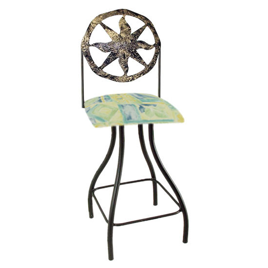 "Grace Collection Celestial Theme Nova Silhouette 24"" Seat Height Swivel Bar Stool"