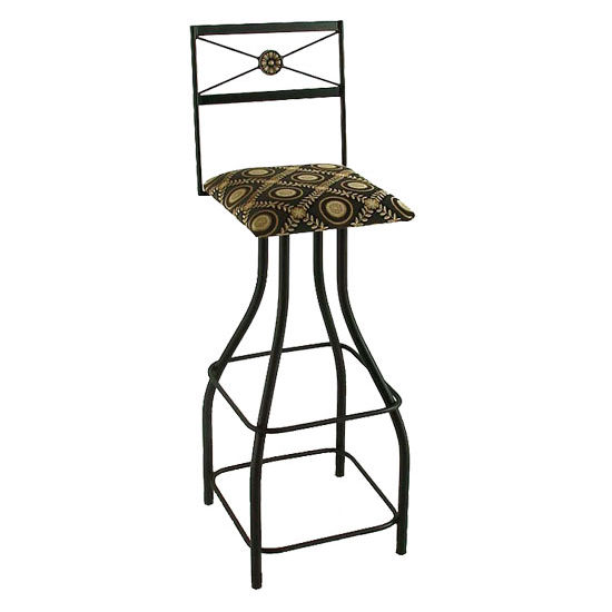 "Grace Collection 36"" Extra Tall Swivel Bar Stool with Decorative Back in a Variety of Finishes"