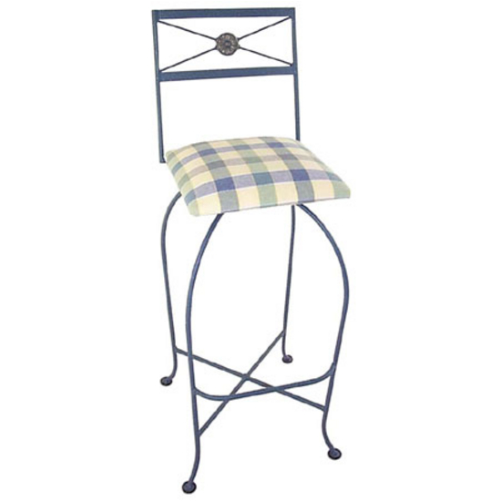"Grace Collection 24"" Neo Classic Iron Bar Stool in a Variety of Finishes"
