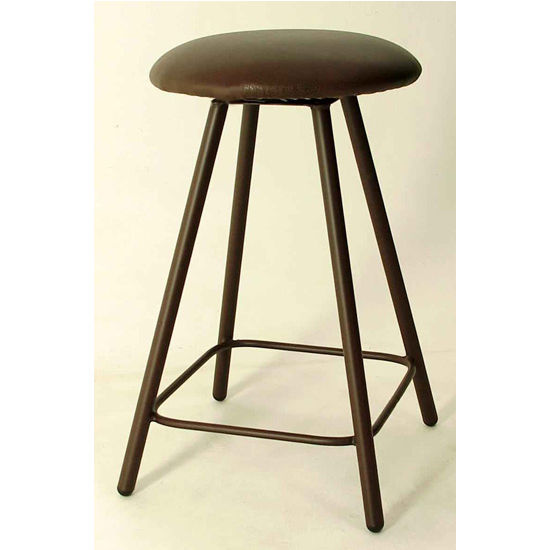 "Grace Collection Moderno 24"" Straight Leg Backless Swivel Stool in a Variety of Finishes"