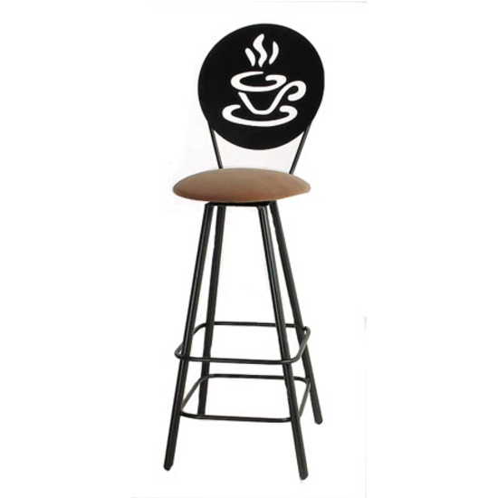"Grace Collection 24"" Swivel Bar Stool with Modern Café Design in a Variety of Finishes"