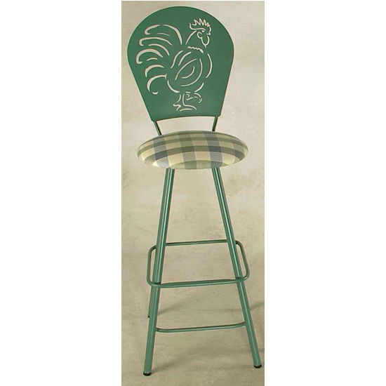 Bar Stools Rooster Swivel Bar Stool With Straight Leg