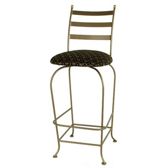 Grace Collection Carolina Backed Bar Stool with Fabric Seat 24""