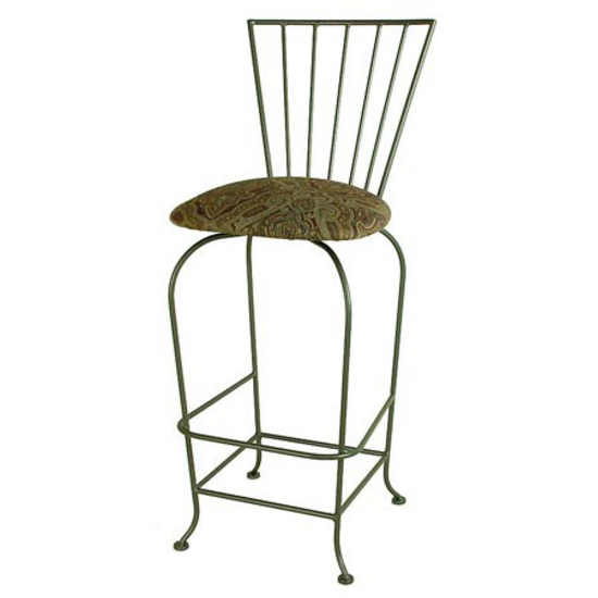 Grace Collection Terra Nova Backed Bar Stool 24""