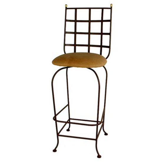 Grace Collection Westminster Backed Bar Stool with Fabric Seat 24""