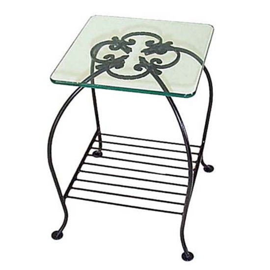 Grace - Occasional Table w/ Rack & Glass Top