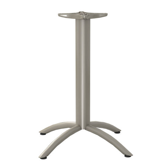 "Gibraltar X-Shaped Table Base with Levelers, 26"" W x 27-3/4"" H, 20 lbs"