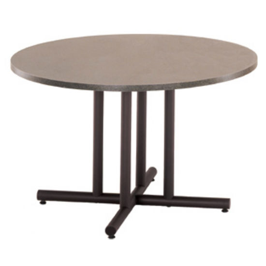 "Gibraltar X-Shaped Table Base with 4 Supports, 38"" W x 27-3/4"" H"
