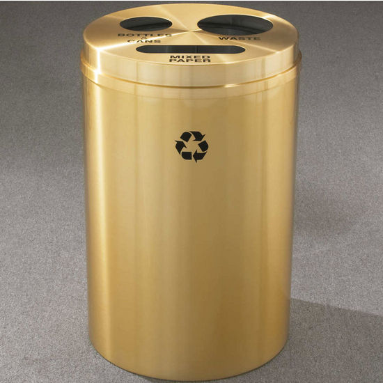 RecyclePro III Receptacles for Bottles, Cans, Paper & Waste