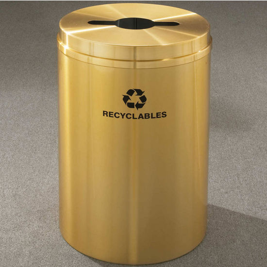 RecyclePro I for Mixed Recyclables with Multi-Purpose Opening, 33 Gallons