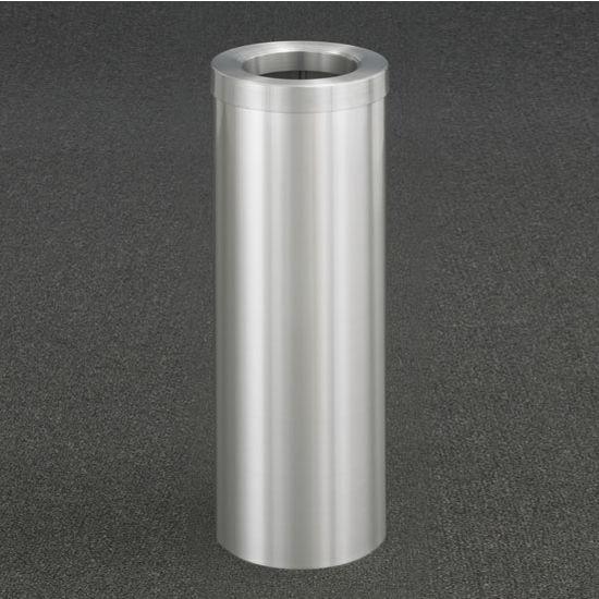 "Glaro Funnel Top 10"" Diameter Waste Receptacle in Satin Aluminum, 10"" Diameter x 29"" H"