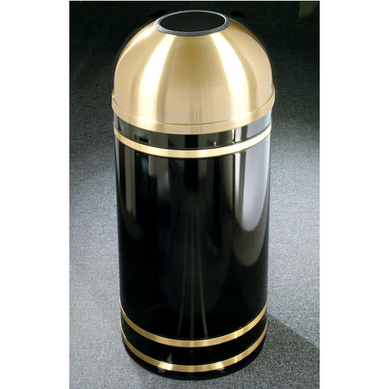 Monte Carlo WasteMaster™ Collection Satin Brass Cover Open Dome Top Waste Receptacle