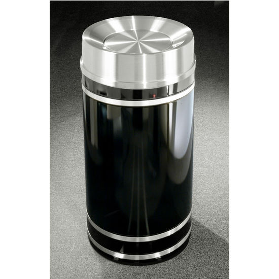 Monte Carlo WasteMaster� Collection Satin Aluminum Cover Tip Action Top Waste Receptacle