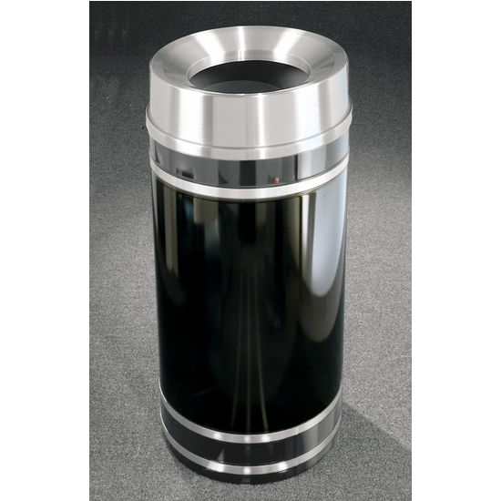 Monte Carlo WasteMaster� Collection Satin Aluminum Cover Funnel Top Waste Receptacle