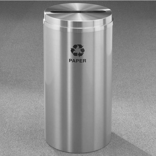 Glaro RecyclePro® Collection 33 Gallon Paper Receptacle