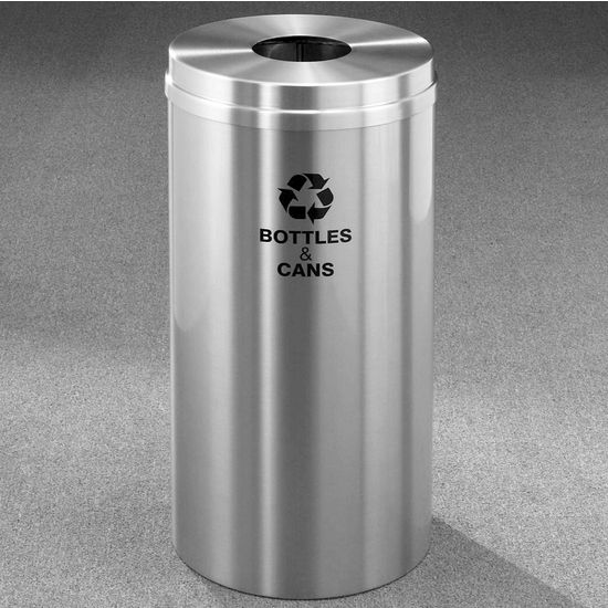 Glaro RecyclePro� Collection 16 Gallon Bottles & Cans Receptacle