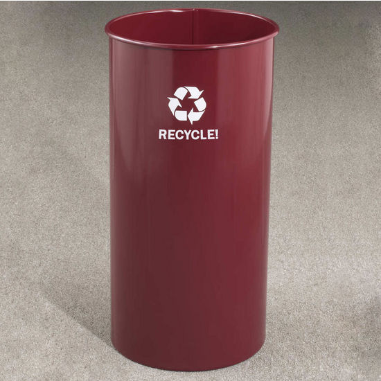 Glaro RecyclePro� 18 Gallon Open Top Waste Basket