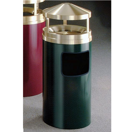 Glaro 7, 11 & 19 Gallon Ash/Trash Canopy Top Wastemasters� with Sand Trays & Satin Brass Covers
