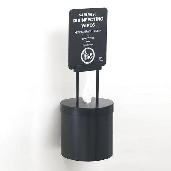 Wall Mounted 10 Diameter Disinfecting Wipe Dispenser