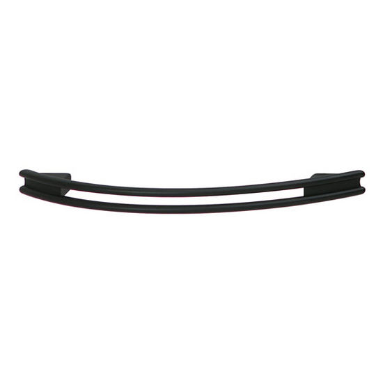 Hafele (5'' W) Curved Handle in Matt Black, 126mm W x 28mm D x 12mm H