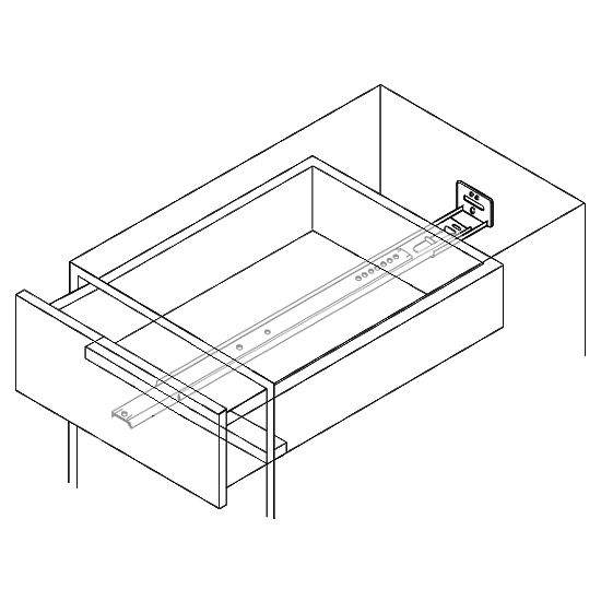Accuride 34 Extension Center Mounted Drawer Slide w Concealed