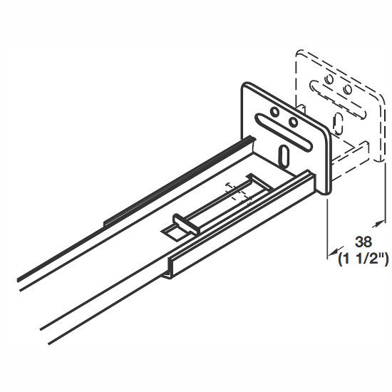 Accuride 3 4 Extension Center Mounted Drawer Slide W