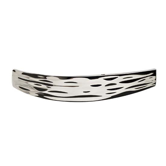 Hafele Strata Collection Handle in Polished Chrome, 127mm W x 26mm D x 23mm H
