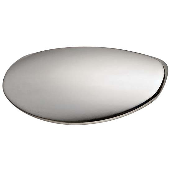 Hafele Caress Collection Handle in Polished Chrome, 77mm W x 27mm D x 28mm H