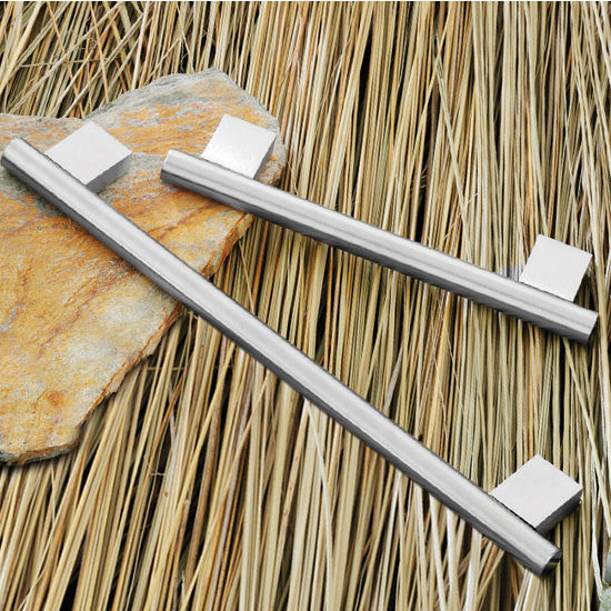 Hafele (6-1/4'' or 9-1/2'' W) Bar Handle in Stainless Steel, 158mm or 240mm W x 35mm D x 12mm H